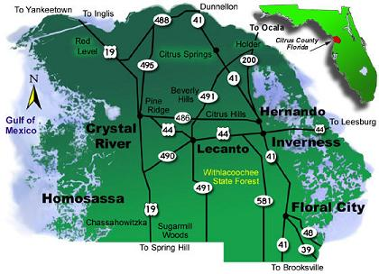 Citrus County Florida Map